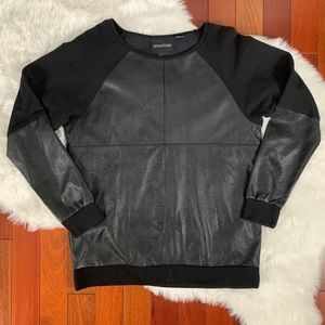 MINKPINK Faux Leather Sweater Small